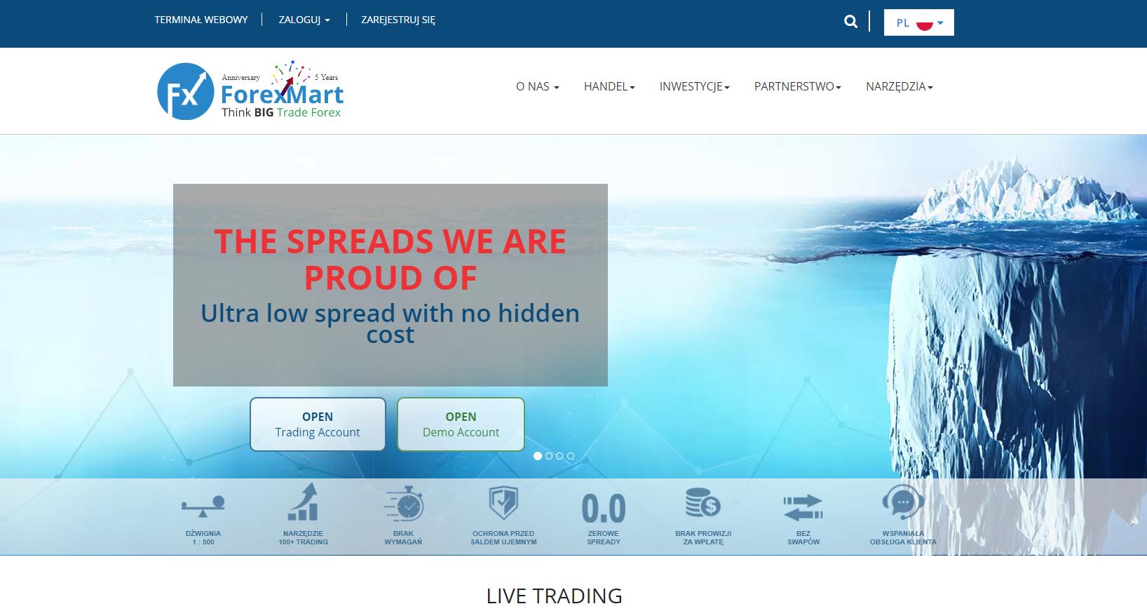 Broker Forexmart: opis spółki