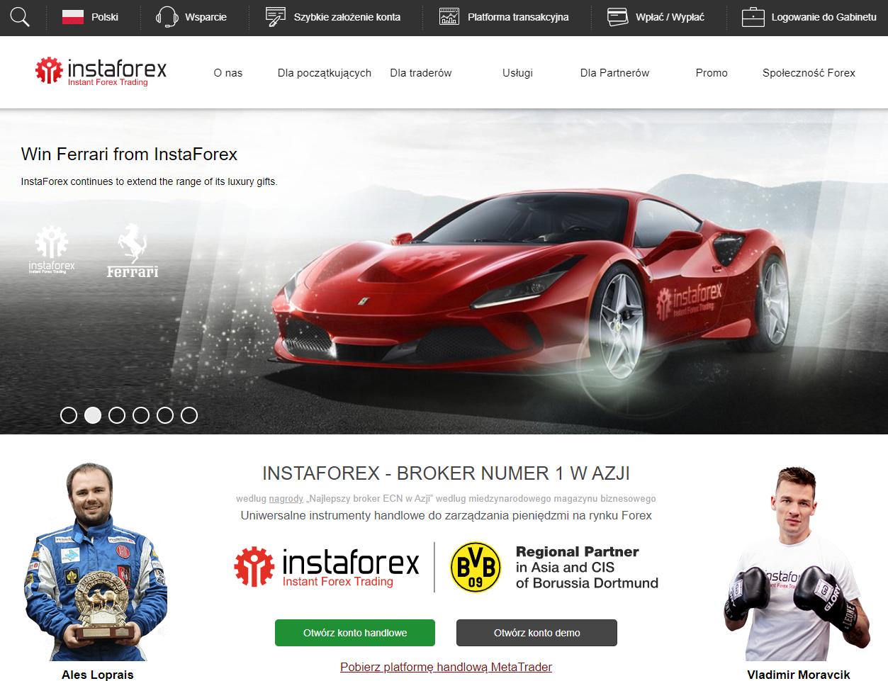 Instaforex broker: Opis, recenzje
