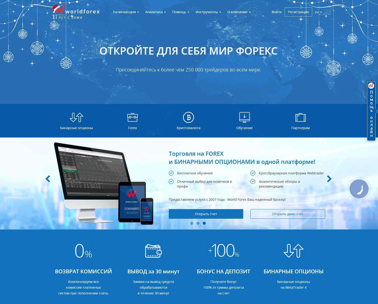 Обзор брокера World Forex